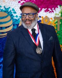 Trenton Doyle Hancock (Visual Arts) Texas Medal of Arts Awards Red Carpet, Long Center, Austin, TX 2/27/2019. © 2019 Jim Chapin Photography