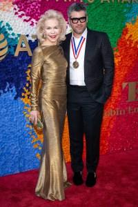 Lynn Wyatt and Brandon Maxwell (Design) at the Texas Medal of Arts Awards Red Carpet, Long Center, Austin, TX 2/27/2019. © 2019 Jim Chapin Photography