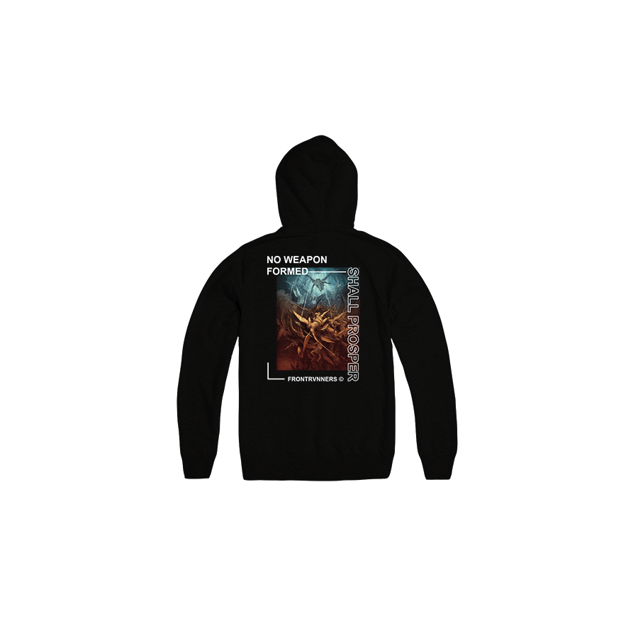 No Weapon Formed Shall Prosper Black Back Hoodie