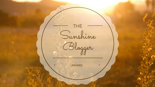I was nominated for The Sunshine Blogger Award! The Sunshine Blogger Award is an award given by bloggers to bloggers. It is an awesome way to get to know other bloggers. It is a wonderful way to promote and network with other like-minded creatives.