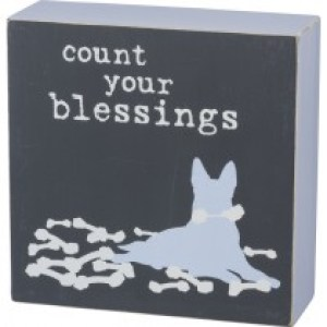Count Your Blessings – Box Sign