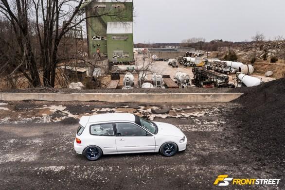 A Home-Built Honda Civic With Nine Lives