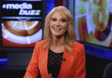 """White House counselor Kellyanne Conway is interviewed by Howard Kurtz during a taping of his """"MediaBuzz"""" program on the Fox News Channel in New York, Friday, March 10, 2017. (AP Photo/Richard Drew)"""