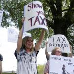 Trump: 'Who Paid For' Rallies Seeking Release Of Tax Returns