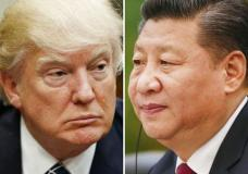 """FILE - This combination of file photos shows U.S. President Donald Trump on March 28, 2017, in Washington, left, and Chinese President Xi Jinping on Feb. 22, 2017, in Beijing. Trump is suggesting ahead of his two-day meeting starting Thursday, April 6, 2017 with Xi that with or without Beijing's help, he can """"totally"""" handle North Korea, but his solution would have to be pretty clever. (AP Photo/Files)"""