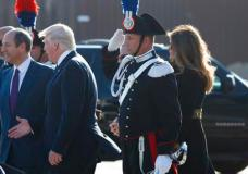 President Donald Trump and first lady Melania Trump arrive at Fiumicino International Airport, Tuesday, May 23, 2017, in Fiumicino, Italy. (AP Photo/Evan Vucci)