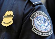 FILE PHOTO: A U.S. Customs and Border Protection arm patch and badge is seen at Los Angeles International Airport, California February 20, 2014. REUTERS/Kevork Djansezian/File Photo