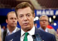 FILE - In this July 17, 2016 file photo, then-Donald Trump campaign chairman Paul Manafort talks to reporters on the floor of the Republican National Convention, in Cleveland. Manafort, President Donald Trump's former campaign chairman, has registered with the Justice Department as a foreign agent for political consulting work he did for a Ukrainian political party, acknowledging he coached party members on how to interact with U.S. government officials. (AP Photo/Matt Rourke, File)