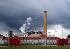 Rain clouds gather over the New Orleans Sewerage & Water Board facility, where turbines that power pumps have failed, in New Orleans, Thursday, Aug. 10, 2017.   Gov. John Bel Edwards declared a state of emergency in New Orleans on Thursday as the city's malfunctioning water-pumping system left some neighborhoods at greater risk of foul-weather flooding.  The city scrambled to repair fire-damaged equipment at a power plant and shore up its drainage system, less than a week after a flash flood from torrential rain overwhelmed the city's pumping system and inundated many neighborhoods.   (AP Photo/Gerald Herbert) (AP Photo/Gerald Herbert)