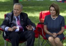 Senate Democratic leader Chuck Schumer and House Democratic leader Nancy Pelosi.
