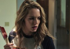 """This image released by Universal Pictures shows Jessica Rothe in a scene from """"Happy Death Day."""" (Universal Pictures via AP)"""