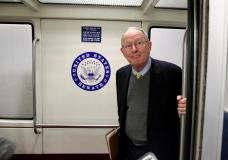 Senate Health, Education, Labor and Pensions Committee Chairman Lamar Alexander (R-TN) stands in the subway on Capitol Hill in Washington, U.S., October 18, 2017.   REUTERS/Joshua Roberts
