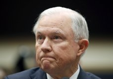 Attorney General Jeff Sessions listens during a House Judiciary Committee hearing on Capitol Hill, Tuesday, Nov. 14, 2017 in Washington. Sessions is leaving open the possibility that a special counsel could be appointed to look into Clinton Foundation dealings and an Obama-era uranium deal. The Justice Department made the announcement Monday in responding to concerns from Republican lawmakers. (AP Photo/Alex Brandon)