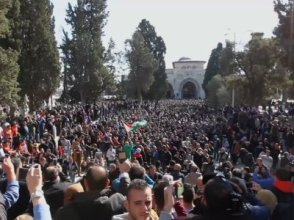 Muslim faithful prayed in the compound of the Al Aqsa mosque in Jerusalem on Friday amid heightened tension following a decision by US President Donald Trump to recognize Jerusalem as the capital of Israel. (Dec. 8)