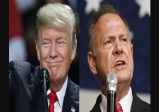 """Alabama voters are getting a recorded phone call of President Donald Trump saying he needs Republican Roy Moore in the U.S. Senate. The recording includes Trump saying progress on his agenda will be """"stopped cold"""" Democrat Doug Jones is elected. (Dec. 11)"""
