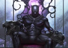 """This image provided by Marvel Comics shows the variant cover of Black Panther #1 written by Ta-Nehisi Coates on sale in May 2018 featuring his new storyline """"The Intergalactic Empire of Wakanda."""" The cover was drawn by InHyuk Lee. As people gear up for the """"Black Panther"""" movie, acclaimed author Ta-Nehisi Coates wants them to check out the original source, Marvel's Black Panther comic book, where he's booting up a massive outer space adventure for the king of Wakanda. (Marvel via AP)"""