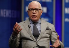 FILE - In this April 12, 2017, file photo, Michael Wolff of The Hollywood Reporter speaks at the Newseum in Washington. Wolff used to worry about the spotlight moving on. No longer. The author of an explosive book on President Donald Trump's administration is the target of a cease and desist letter from Trump's lawyers. And he's the focus of a campaign by the president's allies to cast doubt on the book's claim that Trump is a reluctant and troubled president. (AP Photo/Carolyn Kaster, File)