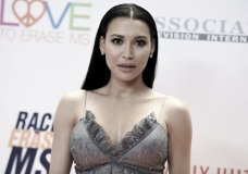 """FILE - In this May 5, 2017, file photo, Naya Rivera attends the 24th Annual Race to Erase MS Gala in Beverly Hills, Calif. A domestic battery charge against the """"Glee"""" actress was dismissed in West Virginia on Friday, Jan. 12, 2018, after her husband decided not to seek prosecution. (Photo by Richard Shotwell/Invision/AP, File)"""
