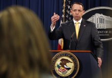 Deputy Attorney General Rod Rosenstein answers a question after announcing that the office of special counsel Robert Mueller announced a grand jury has charged 13 Russian nationals and several Russian entities, Friday, Feb. 16, 2018, in Washington. The defendants with an elaborate plot to interfere in the 2016 U.S. presidential election. (AP Photo/Jacquelyn Martin)   AP    account  You are following AP Top News Sports Entertainment Oddities Travel Technology Lifestyle Business U.S. News Health Science International News Politics Add more topics  Trending Shootings Lotteries Donald Trump Russia Florida School shootings Elections Media Crime Texas  Hillary Clinton Robert Mueller Media Indictments Social media Politics North America Elections Donald Trump Trump-Russia Probe U.S. News Russia Presidential elections AP Top News 13 Russians charged with meddling to help Trump in election By ERIC TUCKER 50 minutes ago     https://apnews.com/d7eeadacc3e442ebbe23916a053856faLink copied!