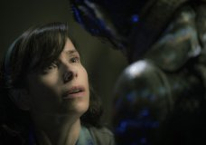 """FILE - This image released by Fox Searchlight Pictures shows Sally Hawkins, left, and Doug Jones in a scene from the film """"The Shape of Water,"""" which is nominated for an Oscar for best picture. (Kerry Hayes/Fox Searchlight Pictures via AP, File)"""