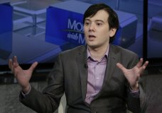 "FILE - In this Aug. 15, 2017 file photo, former pharmaceutical CEO Martin Shkreli speaks during an interview by Maria Bartiromo during her ""Mornings with Maria Bartiromo"" program on the Fox Business Network, in New York. Shkreli became notorious for raising the price of a life-saving drug by 5,000 percent and trolling critics on the internet with his snarky ""Pharma Bro"" persona. A federal judge in Brooklyn will have to weigh the conflicting portrayals of Shkreli on Friday, March 9, 2018, at his sentencing on a securities fraud conviction. (AP Photo/Richard Drew, File)"