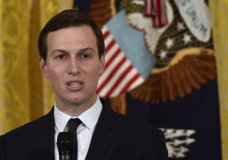 FILE - In this May 18, 2018, file photo, White House adviser Jared Kushner speaks in the East Room of the White House in Washington. Kushner, President Donald Trump's son-in-law, has been granted permanent security clearance. That's according to a person with knowledge of the decision who was not authorized to speak publicly Wednesday, May 23. (AP Photo/Susan Walsh, File)
