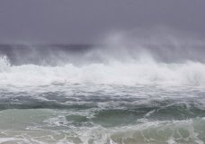 The surf kicks up in Panama City, Fla., as Subtropical Storm Alberto approaches, Monday, May 28, 2018. (Joshua Boucher/News Herald via AP)