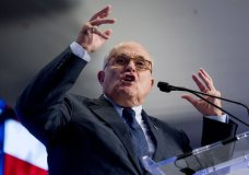FILE - In this May 5, 2018, file photo, Rudy Giuliani, an attorney for President Donald Trump, speaks in Washington. Giuliani says Stormy Daniels isn't credible because of her work as a porn actress and implied that her claims that she had sex with the president aren't true because of the way she looks.(AP Photo/Andrew Harnik, File)