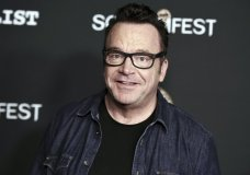 "FILE - In this Oct. 10, 2017 file photo, Tom Arnold attends the premiere of ""Dead Ant"" in Los Angeles. Michael Cohen, President Donald Trump's former attorney, retweeted a photo posing with Arnold, who is working on a show to hunt down recordings of the president. The photo fueled speculation Friday, June 22, 2018, that Cohen has secret tapes of Trump and is willing to share them. (Photo by Richard Shotwell/Invision/AP, File)"
