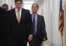 Justice Department official, Bruce G. Ohr, center, arrives for a closed hearing of the House Judiciary and House Oversight committees on Capitol Hill in Washington, Tuesday, Aug. 28, 2018. Ohr will be interviewed as part of an investigation into decisions made by the department in 2016. (AP Photo/Pablo Martinez Monsivais)