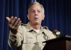 Clark County Sheriff Joe Lombardo speaks at a news conference regarding the Oct. 1 shooting on Friday, Aug. 3, 2018, in Las Vegas. More than 10 months after the deadliest mass shooting in modern U.S. history, police say they are closing their investigation without answering the key question: What drove a gunman to unleash a hail of gunfire that killed 58 people and wounded hundreds more? (AP Photo/John Locher)