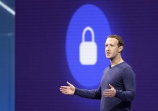 """FILE- In this May 1, 2018, file photo, Facebook CEO Mark Zuckerberg makes the keynote speech at F8, Facebook's developer conference in San Jose, Calif. Facebook says it recently discovered a security breach affecting nearly 50 million user accounts. In a blog post, Friday, Sept. 28, the company says hackers exploited its """"View As"""" feature, which lets people see what their profiles look like to someone else. Facebook says it has taken steps to fix the security problem and alerted law enforcement. (AP Photo/Marcio Jose Sanchez, File)"""