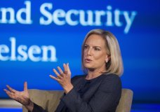 Secretary of Homeland Security Kirstjen Nielsen speaks to George Washington University's Center for Cyber and Homeland Security, in Washington, Wednesday, Sept. 5, 2018. The Trump administration is planning to circumvent a longstanding court agreement on how children are treated in immigration custody. That means families will be kept in detention longer. Homeland Security announced Thursday it would terminate the agreement which requires the release of immigrant children generally after 20 days. It would instead adopt regulations that administration officials say will provide care of minors, but allow changes to deter migrants illegally crossing the border. (AP Photo/Cliff Owen)