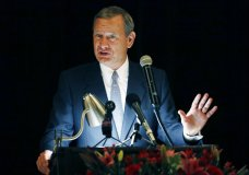 "FILE - In this Sept. 27, 2017 file photo, Chief Justice John Roberts speaks during the Bicentennial of Mississippi's Judiciary and Legal Profession Banquet in Jackson, Miss. Roberts is pushing back against President Donald Trump's description of a judge who ruled against the administration's new asylum policy as an ""Obama judge."" It's the first time that the leader of the federal judiciary has offered even a hint of criticism of Trump, who has previously blasted federal judges who ruled against him. Roberts says Wednesday that the U.S. doesn't have ""Obama judges or Trump judges, Bush judges or Clinton judges."" He is commenting in a statement released by the Supreme Court after a query by The Associated Press. (AP Photo/Rogelio V. Solis)"