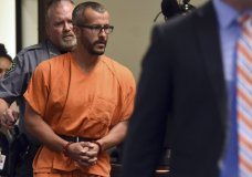 FILE - In this Aug. 16, 2018, file photo, Christopher Watts is escorted into the courtroom before his bond hearing at the Weld County Courthouse in Greeley, Colo. The Colorado man, charged with killing his pregnant wife and two daughters, has pleaded guilty Tuesday, Nov. 6, 2018, under a plea deal that will allow him to avoid the death penalty. (Joshua Polson/The Greeley Tribune via AP, Pool, file)