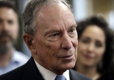 FILE - In this Jan. 29, 2019 file photo, Michael Bloomberg speaks to workers during a tour of the WH Bagshaw Company, a pin and precision component manufacturer, in Nashua, N.H. Bloomberg is not running for president. The 77-year-old former New York City mayor, one of the richest men of the world, announced his decision not to join the crowded Democratic field in a Bloomberg News editorial on Tuesday, March 5, 2019. (AP Photo/Elise Amendola, File)