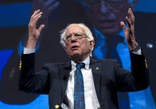 Presidential candidate Sen. Bernie Sanders of Vermont, speaks during the We the People Membership Summit, featuring the 2020 Democratic presidential candidates, at the Warner Theater, in Washington, Monday, April 1, 2019. Sanders says his campaign has raised $18.2 million in the 41 days since he launched his Democratic presidential bid. (AP Photo/Jose Luis Magana)