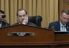 ouse Judiciary Committee Chair Jerrold Nadler, D-N.Y., joined at right by Rep. Doug Collins, R-Georgia, the ranking member, waits to start a hearing on the Mueller report without witness Attorney General William Barr who refused to appear, escalating an already acrimonious battle between Democrats and the Justice Department, on Capitol Hill in Washington, Thursday, May 2, 2019. (AP Photo/J. Scott Applewhite)