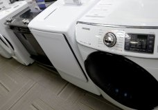 FILE - In this May 9, 2019, file photo washers and dryers are shown on display in a retail store in Cranberry Township, Pa. On Friday, May 24, the Commerce Department releases its March report on durable goods. (AP Photo/Keith Srakocic, File)