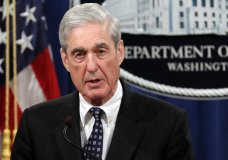 FILE - In this May 29, 2019, file photo, special counsel Robert Mueller speaks at the Department of Justice in Washington, about the Russia investigation. To prepare for next week's high stakes hearing with Mueller, some Democratic members and staff are watching old video of his previous testimony. Others are closely re-reading Mueller's 448-page report. And most of them are worrying about how they'll make the most their short time in front of the stern, reticent former FBI director. (AP Photo/Carolyn Kaster, File)