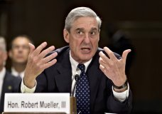 FILE - In this June 19, 2013, file photo, then-FBI Director Robert Mueller testifies on Capitol Hill in Washington. When special counsel Mueller testifies before Congress it will be a moment many have been waiting for, but it comes with risk for Democrats. (AP Photo/J. Scott Applewhite, file)