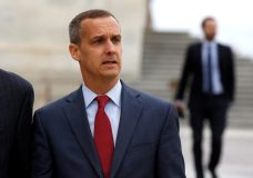 Former Trump campaign manager Corey Lewandowski departs after appearing before the House Intelligence Committee on Capitol Hill in Washington, U.S., March 8, 2018.      REUTERS/Joshua Roberts