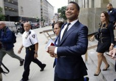 FILE - In this June 13, 2019 file photo, Cuba Gooding Jr. leaves criminal court in New York. A New York City judge has rejected actor Cuba Gooding Jr.'s request to have his groping case thrown out. (AP Photo/Frank Franklin II, File)