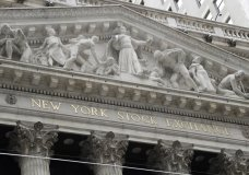 FILE - This Aug. 23, 2019, file photo shows the New York Stock Exchange in New York. The U.S. stock market opens at 9:30 a.m. EDT on Monday, Aug. 26. (AP Photo/Frank Franklin II, File)