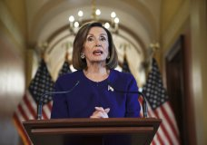 House Speaker Nancy Pelosi of Calif., reads a statement announcing a formal impeachment inquiry into President Donald Trump, on Capitol Hill in Washington, Tuesday, Sept. 24, 2019. (AP Photo/Andrew Harnik)