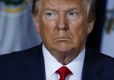 President Donald Trump listens during a multilateral meeting on Venezuela at the InterContinental New York Barclay hotel during the United Nations General Assembly, Wednesday, Sept. 25, 2019, in New York. (AP Photo/Evan Vucci)