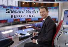 """FILE - In this Jan. 30, 2017, file photo, Fox News Channel chief news anchor Shepard Smith appears on the set of """"Shepard Smith Reporting"""" in New York. Smith, whose newscast on Fox News Channel seemed increasingly an outlier on a network dominated by supporters of President Trump, says he is leaving the network. He has worked at Fox News Channel since the network started in 1996. In a statement, Smith said he had asked the company to let him leave. He gave no reason for the seemingly sudden decision. (AP Photo/Richard Drew, File)"""