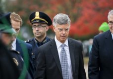 Ambassador William Taylor, is escorted by U.S. Capitol Police as he arrives to testify before House committees as part of the Democrats' impeachment investigation of President Donald Trump, at the Capitol in Washington, Tuesday, Oct. 22, 2019. (AP Photo/J. Scott Applewhite)