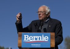 Democratic presidential candidate Sen. Bernie Sanders, I-Vt., speaks to supporters during a rally Saturday, Oct. 19, 2019, in New York. (AP Photo/Eduardo Munoz Alvarez)