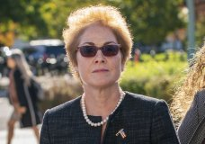 "FILE - In this Oct. 11, 2019, file photo, former U.S. ambassador to Ukraine Marie Yovanovitch, arrives on Capitol Hill in Washington. The House impeachment panels are starting to release transcripts from their investigation. And in one of them, Yovanovitch says that Ukrainian officials warned her in advance that Rudy Giuliani and his allies were planning to ""do things, including to me."" (AP Photo/J. Scott Applewhite, File)"